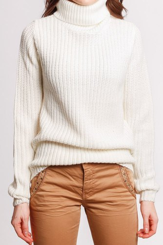 Rut & Circle Tinelle Rollneck Knit White