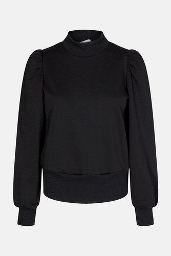 CO'COUTURE Puff Sleeve Sweatshirt Black