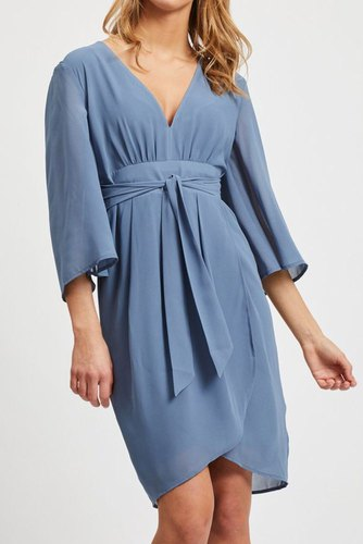 Vila Vimicada 3/4 Sleeve Dress Ashley Blue