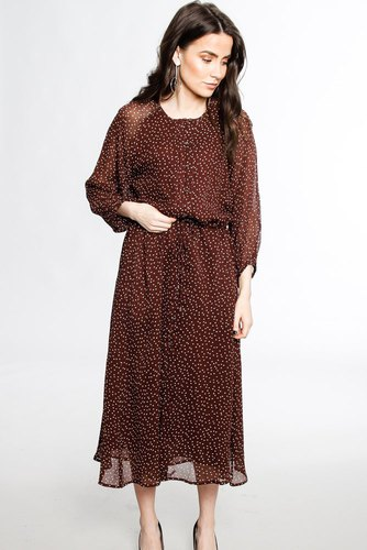 InWear Saga Long Dress Bitter Chocolat