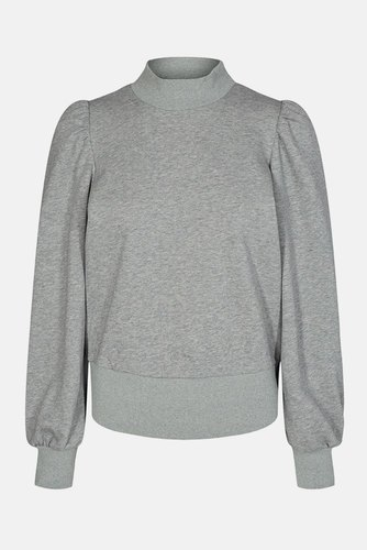 CO'COUTURE Puff Sleeve Sweatshirt Light Grey
