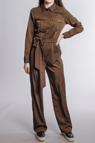 Rut & Circle Alice Workwear Jumpsuit Khaki Green