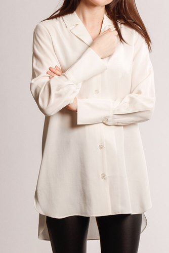 Selected Femme Slfidals Long Shirt W Snow White