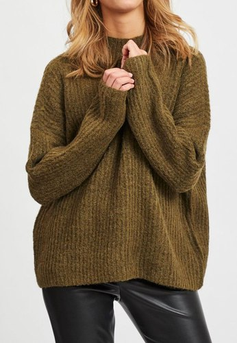 Vila Vigrippi Knit Top/l Dark Olive