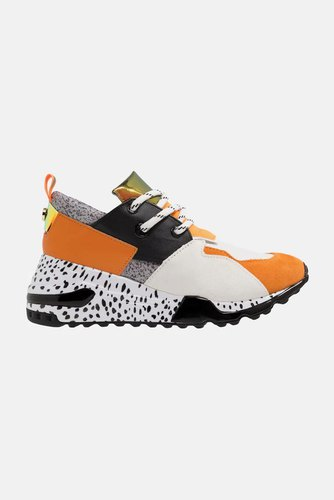 Steve Madden Cliff Sneaker Orange/black