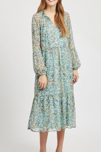 Vila Vifalia L/s Midi Dress/dc Blue Haze