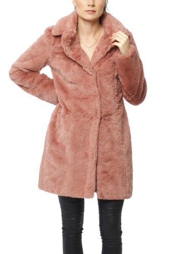 Vila Visofta Faux Fur Coat Ash Rose
