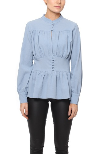 Rue de Femme EMILIA BLOUSE LIGHT BLUE