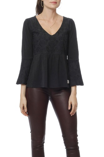 Odd Molly Darling L/s Top Almost Black