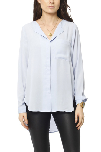 Selected Femme Sfdynella Ls Shirt Xenon Blue