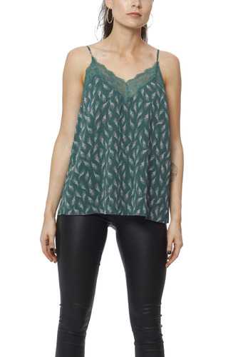 Rodebjer Demi Top Forest Green