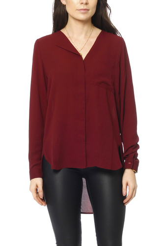 Selected Femme Sfdynella Ls Shirt Tawny Port