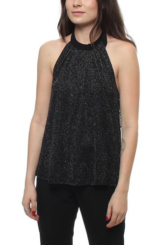 Nicolina Halterneck Top Black