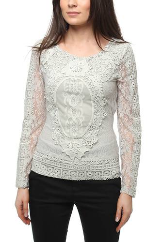 Romeo And Julia Blouse Grey Lace