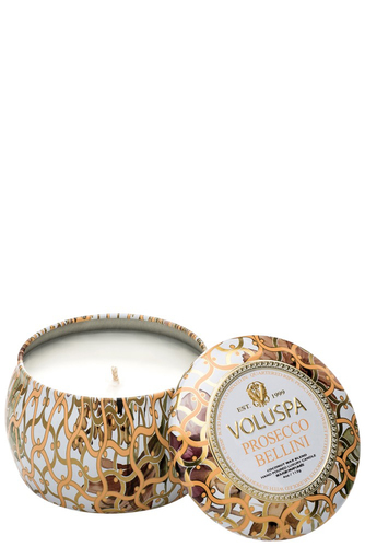 Voluspa Dec. Tin Candle 25tim Prosecco Bellin