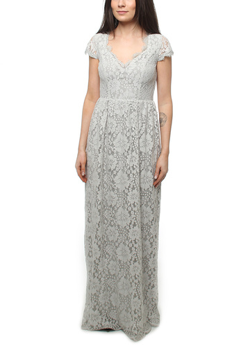 SUMMER DATE LONG DRESS GREY LACE