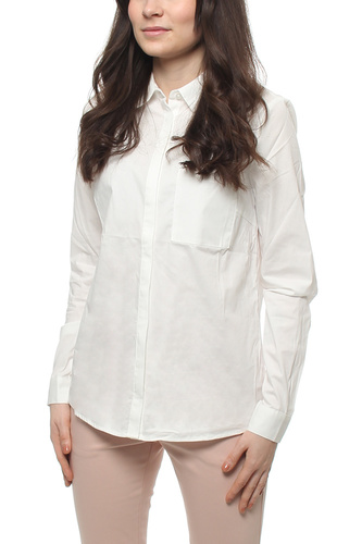 Vila VICHAU L/S SHIRT SNOW WHITE