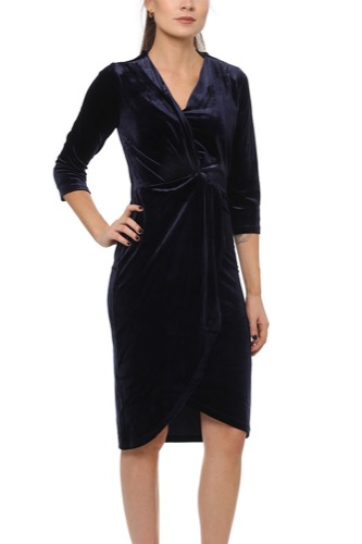 Dry Lake Angelina Dress Navy Velvet