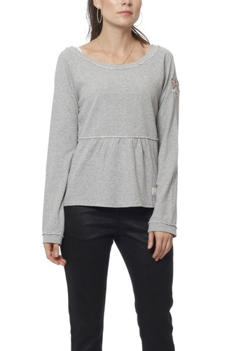 Odd Molly Flying High Sweater Light Grey Mel