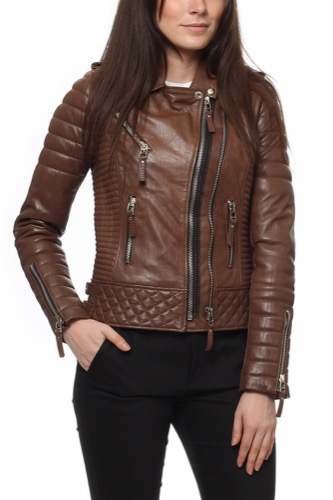 Boda Skins KAY MICHAELS QUILTED BIKE CREASED BROWN