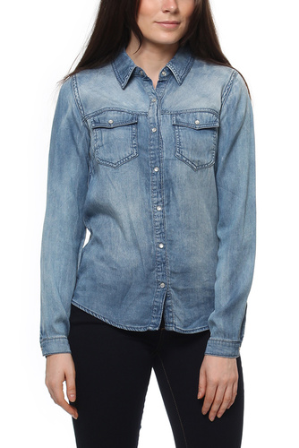 Vila VIBISTA DENIM SHIRT MED BLUE DENIM