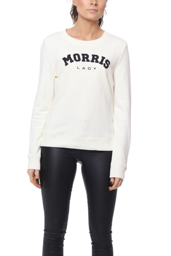 Morris LADY LOGO SWEATSHIRT OFF WHITE