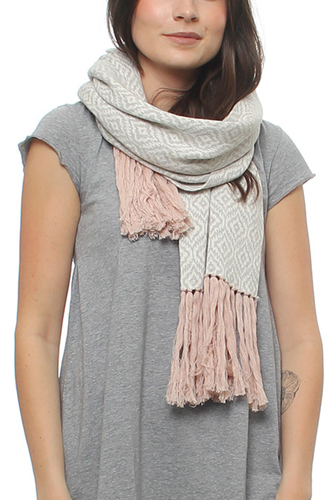Odd Molly GIRL POWER SCARF LT GREY MELANGE