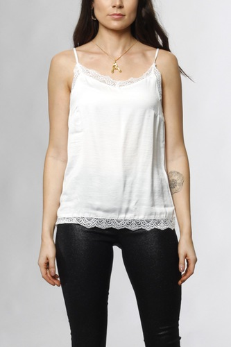 Vila Vicava Lace Singlet Cloud Dancer