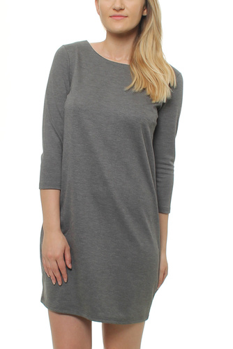 Vila VITINNY NEW DRESS MEDIUM GREY
