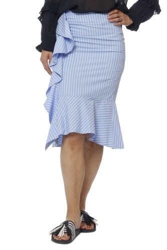 InWear Rachelle Skirt Lw Yarn Dyed Blue