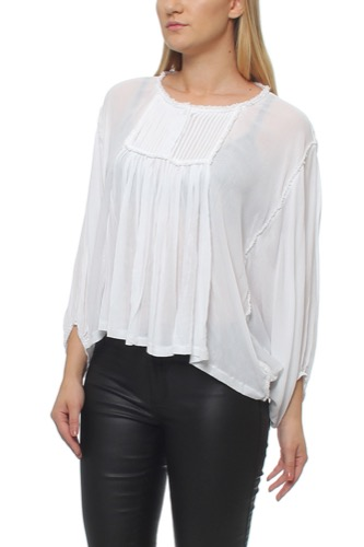 VOLANT BLOUSE WHITE