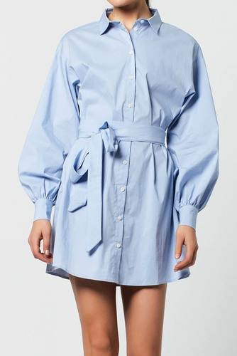 Rut & Circle Lucy Shirt Dress Blue