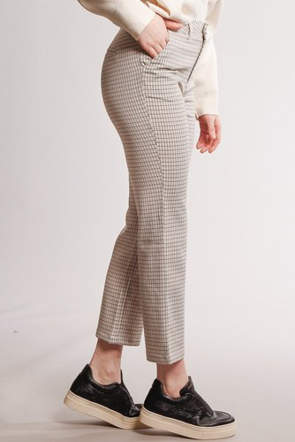 Rut & Circle Maja Check Straight Pant Light Beige