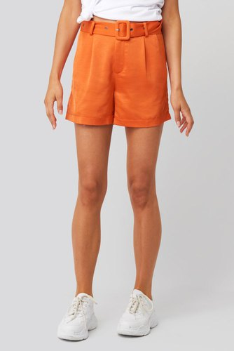 Rut & Circle Kelly Satin Belt Shorts Orange