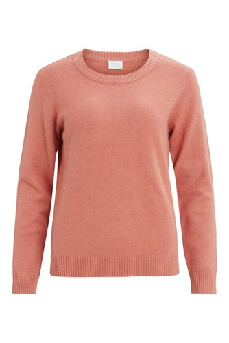 Vila Viril O-neck L/s Knit Top Desert Sand