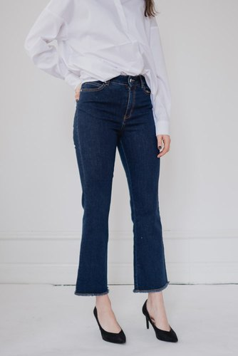 Notes du Nord Melody Cropped Jeans Dark Blue Wash