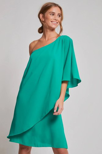 Dry Lake Iris Dress Jade Green