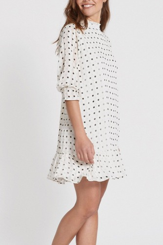 Dry Lake Alina Dress White Dot