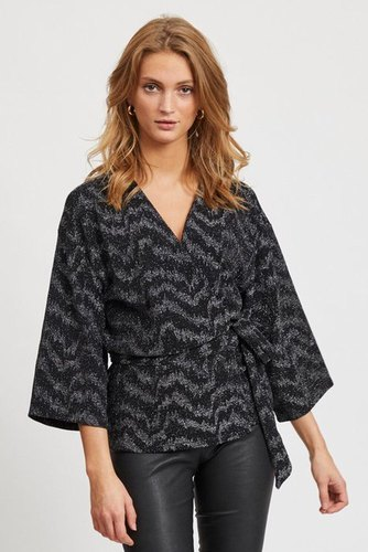 Vila Viwipy 3/4 Cover Up Black/silver