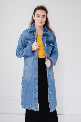 Notes du Nord Malou Coat Blue Wash