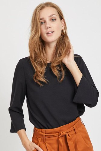 Vila Virasha Boatneck 3/4 Top Black