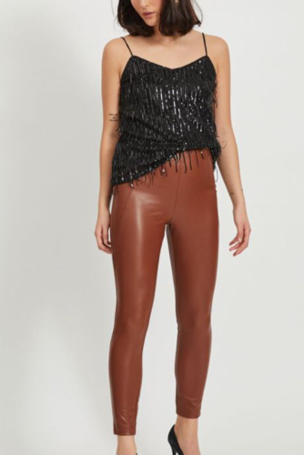Vila Viromanti Sequin Singlet Black