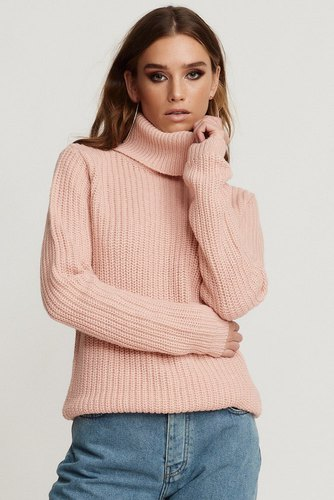 Rut & Circle Tinelle Rollneck Knit Ice Pink