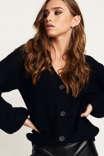 Rut & Circle Hanna Cardigan Black