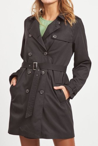 Vila Vimovement Trenchcoat/su Black