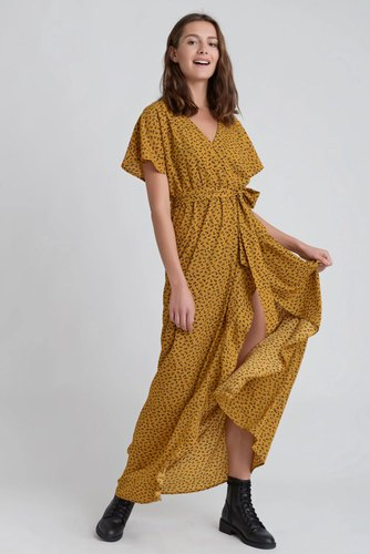 Dry Lake Bela Long Dress Yellow Heart