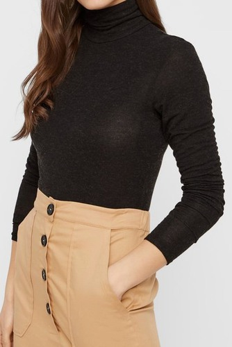 YAS Yaswoola Knit Pullover Black
