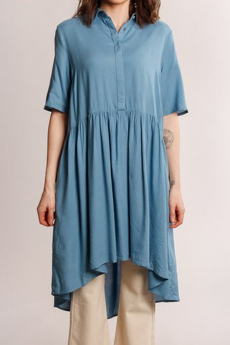 YAS Yasgoa 2/4 Shirt Dress Blue Heaven