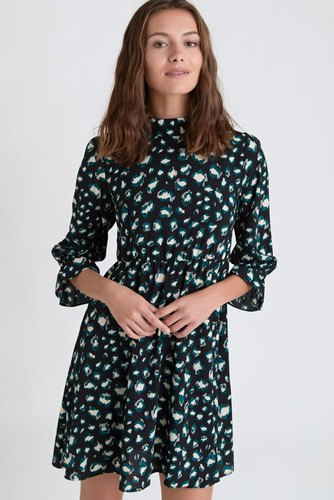 Dry Lake Jaxon Dress Green Leo Print