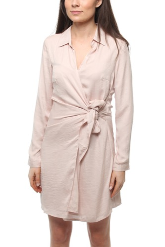 Dry Lake SUN SHIRT DRESS LIGHT PINK